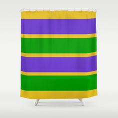 Vibrant colors - Mardi Gras Stripes Pattern Green is for faith, gold represents power and purple stands for justice.