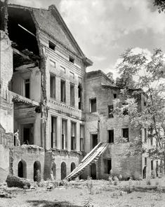 "1938. Iberville Parish, Louisiana. ""Belle Grove."" The rear of the mansion."