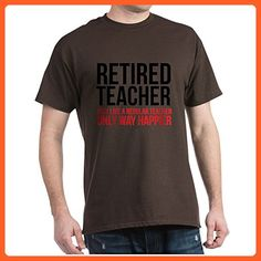 CafePress - Happy Retired Teacher - 100% Cotton T-Shirt - Careers professions shirts (*Partner-Link)