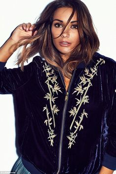 The star says the navy velvet bomber was one of her favourite pieces from the shoot.Frank...