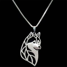 Your favorite Siberian Husky is captured in a beautifully sculpted pendant. Carry your furry friend wherever you go while you wear our exclusive Bohemian Husky Head Pendant Necklace. This piece featur Love My Dog, Malamute Dog, Alaskan Malamute, Dog Jewelry, Animal Jewelry, Nice Jewelry, Jewelry Crafts, Dog Necklace, Pendant Necklace