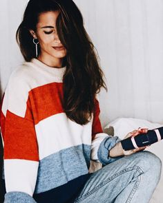 cozy colorful striped sweater