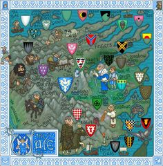 The Vale, in the northeast of Westeros, ancestral domain of House Arryn
