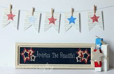 Free Patriotic Sheet Music Banner from Occasionally Crafty