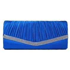 Women's Chicastic Rhinestone Stud Satin Evening Bag Royal ($14) ❤ liked on Polyvore featuring bags, handbags, clutches, blue, bridal evening bags, bridal clutches, evening clutches, blue clutches and blue handbags