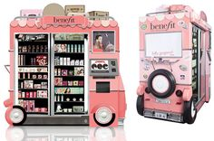 Benefit Cosmetics Launch Glam Up And Away Airport Kiosks - fantastic idea