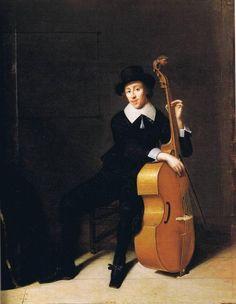 Godaert Kamper Portrait of a musician with his viola da gamba Düsseldorf, Kunstakademie, Museum Kunst Palast Cello Art, Cello Music, Art Music, Old Paintings, Beautiful Paintings, Violin Family, Music Illustration, Music Instruments, Portrait