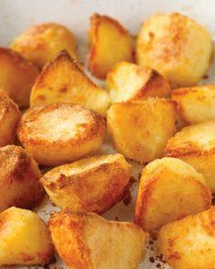 To make roasted potatoes crispy +flour