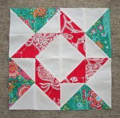 HST block. Amy Butler fabric, n'est-ce pas? by catalina