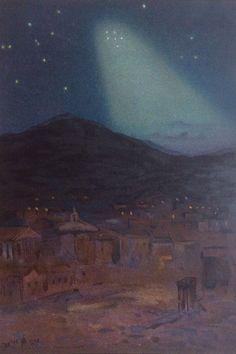 Antique 1890 Astronomy Print Zodiacal Light Palermo Italy 1st April Stars U.F.O