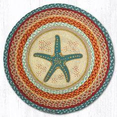 Star Fish Printed Area Rug