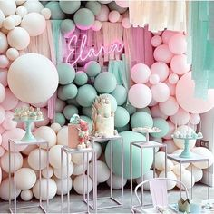 Dreamy displays to chase the post-summer blues away💚💗We plan on keeping our party heads firmly in the balloon & tassel clouds, long after the seasons change☁️🎊🎈 Balloon Tassel, Balloon Garland, Balloon Decorations, Birthday Party Decorations, Balloon Backdrop, Shower Party, Baby Shower Parties, Baby Shower Themes, Shower Ideas