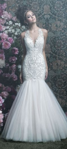 allure couture style c402 an elegant sleeveless fit and flare wedding dress that sparkles with - Point Mariage Collection 2014