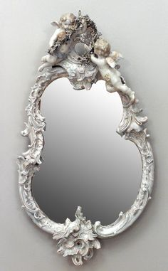 Continental German  Austrian mirror wall mirror porcelain