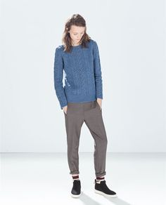 ZARA - NEW THIS WEEK - CHECK TROUSERS WITH CONTRAST FABRIC WAISTBAND