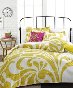 Premavela 4 Piece Twin Comforter Set. I can see it with lime green and orange accents