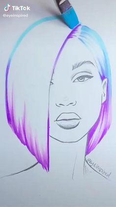 Art Drawings Beautiful, Art Drawings Sketches Simple, Pencil Art Drawings, Art Painting Gallery, Diy Painting, 3d Art Drawing, Diy Canvas Art, Beauty Art, Art Tutorials
