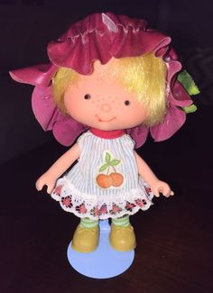 Vintage Brazilian Strawberry Shortcake Little Cherry First Series Brazil Doll #Dolls