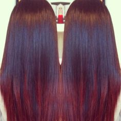 Dark Violet Base With Cherry Cola Ombré Hair Color Re Natural