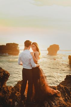 Following their dramatic ballroom wedding and gritty day-after-wedding photo shoot, Joshua and Cheryl are back to steam up our screens with a pre-wedding in Bali captured by Gustu of Maxtu Photography. Whether at a volcano, lake, waterfall, beach or cliffs, the connection Joshua and Cheryl share is palpable.