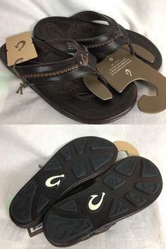 882dd6042551 Sandals and Flip Flops 11504  New Olukai Mea Ola Flip Flop Sandal Mens Dark  Java 8-13 Leather Free Ship -  BUY IT NOW ONLY   102 on eBay!