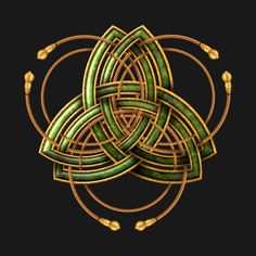 Shop Celtic Triquetra - Green and Gold Rings celtic t-shirts designed by NaumaddicArts as well as other celtic merchandise at TeePublic. Celtic Tattoo Symbols, Celtic Art, Green Tattoos, Black And Grey Tattoos, Wicca, Sleeve Tattoos, Face Tattoos, Tattoo Ink, Arm Tattoo