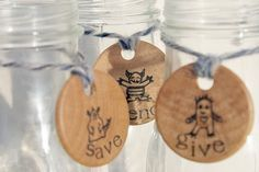 Giving, Saving and Spending Tags with Monsters. $5.00, via Etsy.