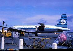 KLM Douglas DC-7C Seven Seas ready for loading cargo