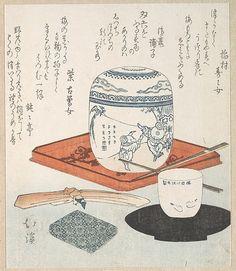 Tea Things Totoya Hokkei (Japanese, 1780–1850)