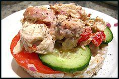 Classic, foolproof chicken salad ricecake
