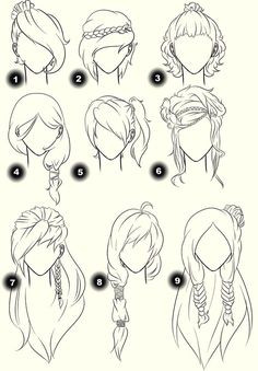 Different hairstyles for u to try.
