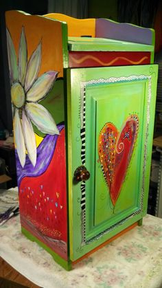 Trash bin revamped~Carolyn's Funky Furniture
