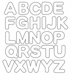 best 25 alphabet templates ideas on alphabet Alphabet Letter Templates, Letter Stencils, Alphabet And Numbers, Alfabet Letters, Printable Letters Free, Bubble Letters Alphabet, Bubble Letter Fonts, Printable Stencils, Applique Letters