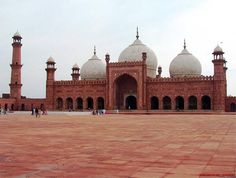 The Badshahi Mosque ( بادشاھی مسجد) in Lahore, commissioned by the sixth Mughal Emperor Aurangzeb in 1671 and completed in 1673, is the second largest mosque in Pakistan and South Asia and the fifth largest mosque in the world. Epitomising the beauty, passion and grandeur of the Mughal era, it is Lahore's most famous landmark and a major tourist attraction.The architecture and design of the Badshahi Mosque closely resembles that of the smaller Jama Mosque in Delhi, India