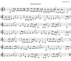 Petit Papa Noel - Music Score Free mp3 download, midi download, lyrics & score: http://www.singing-bell.com/petit-papa-noel-mp3/