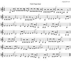 Petit Papa Noel - Music Score Free mp3 download, midi download, lyrics & score: http://www.singing-bell.com/petit-papa-noel-mp3/
