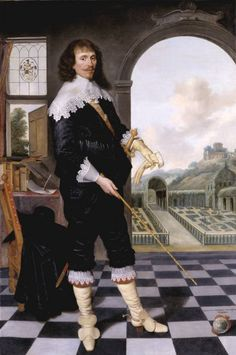 """Portrait of William Style of Langley"", unknown painter, 1636; TC T02308"