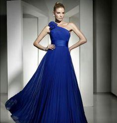 #blue #dress #long