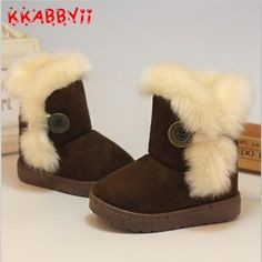 Girls Winter Shoes And Boots 2016 New Kids Snow Boots Boys Thick Warm Baby  Girl Snow Boots Super Soft Non-slip Child Snow Shoes 515a5586343