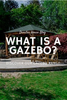 A gazebo is a free standing open structure which provides you with a sheltered area in your garden.  An open garden structure creates a focal point either over a hot tub, or furniture.  #Gazeboideasbackyard #Gazeboideas #WoodengazeboDIY#Woodengazeboideaspergolas #Woodengazeboideasbackyard  #Woodengazeboideashowtobuild  #Gardenideas #Gardendesign  #Gardenprojects #Gardeninspiration Garden Buildings, Garden Structures, Heavy Duty Gazebo, Rattan Corner Sofa, Apex Roof, Wooden Gazebo, Decking Area, Backyard Gazebo, Timber Structure