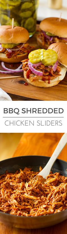 The only thing better than these Easy BBQ Shredded Chicken Sliders is how easy they are to make! #SauceMasters #ad