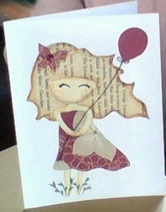 Cute girl's birthday card