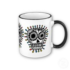 Sugar Skull - sharpie  mug idea, how adorable in a teeth grinning fashion.....
