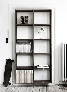 Wooden hanging shelves