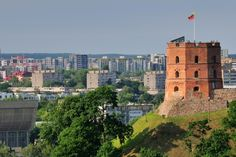 Vilnius+Castle | ... the view over Vilnius from the Tower of Gediminas Castle in Lithuania