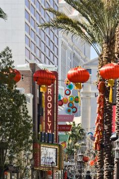 Chinese Decorations on the Linq Promenade, Las Vegas Chinese Decorations, Chinese New Year 2016, Las Vegas Attractions, Year Of The Monkey, New Year Celebration