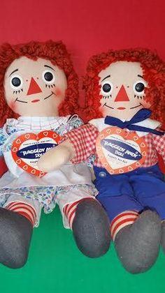 Original Knickerbocker Raggedy Ann and Andy dolls
