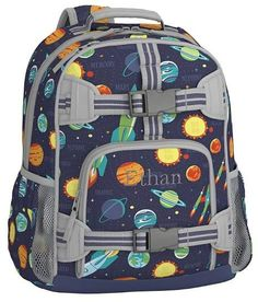 b52b1d87525b Pottery Barn Kids Mackenzie Navy Solar System Lunch Bags Toddler Backpack