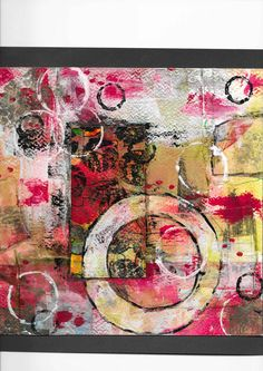 Abstract collage By Tina Burgess
