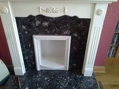 A photo of Amanda Cravens fireplace before the Contemporary Arch #Oak and new fire were installed. Oak Mantel, Mantel Shelf, Oak Beam Fireplace, Fireplace Mantels, Oak Fire Surround, Rustic Contemporary, Solid Oak, Beams, Amanda